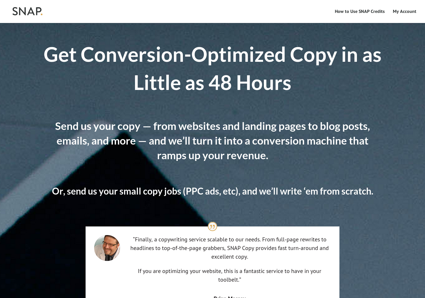 Snap Copy - We make your copy waaay better in 48 hours or less