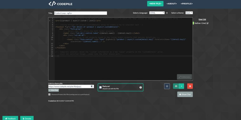 CodePile - A simple, free & rich collaborative code sharing experience | Product Hunt