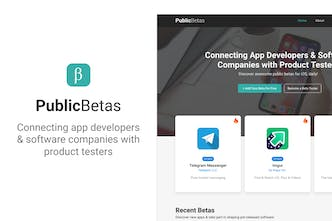 PublicBetas - The best public betas, curated daily