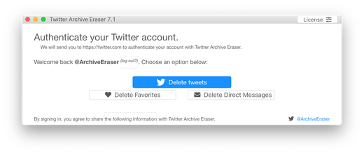 Twitter Archive Eraser 2 0 - Backup and delete thousands of