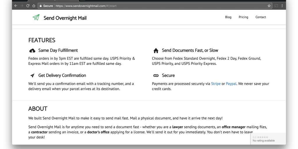 SendOvernightMail - The fastest way to send time sensitive