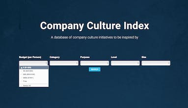 bcdfde8977e8 Company Culture Index - A database of company culture initiatives to ...