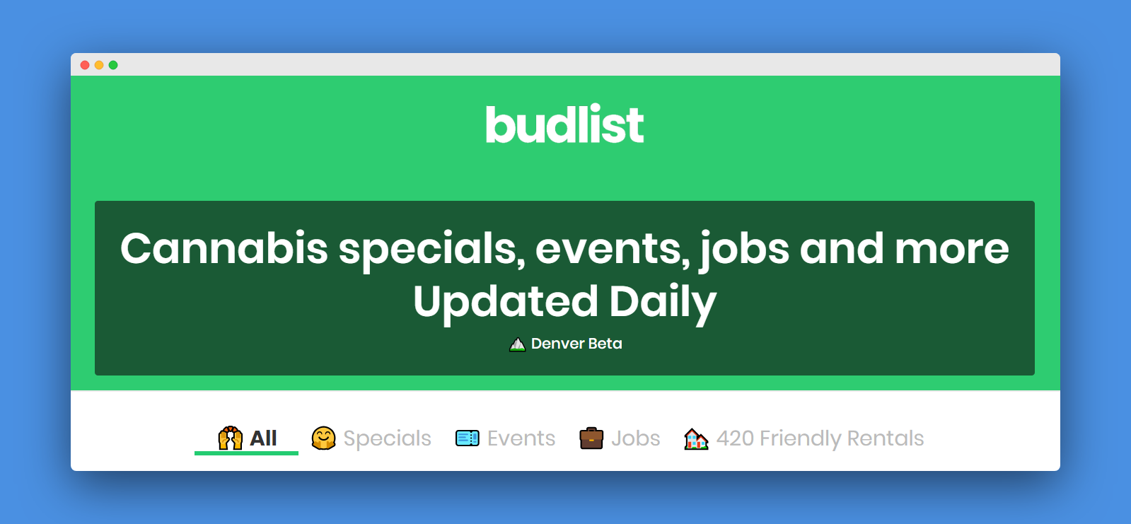 Budlist - Cannabis specials, jobs, events and more - updated daily