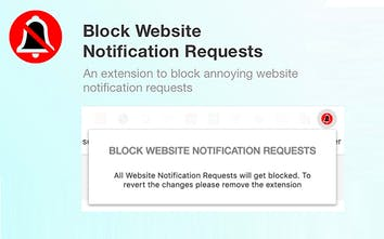 Block Website Notification Requests - Chrome extension to