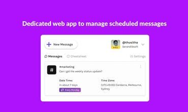 Timy Best Way To Send Scheduled Messages In Slack Product Hunt