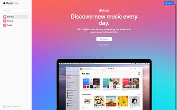Apple Music Web App - Apple Music is now available to stream