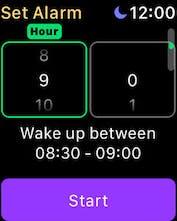 Smart Alarm Clock for Apple Watch - Sleep cycle natural alarm