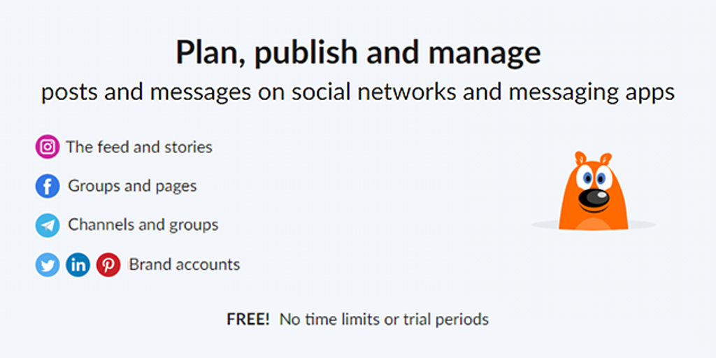 POSTOPLAN - Free system for managing social networks and messaging apps | Product Hunt