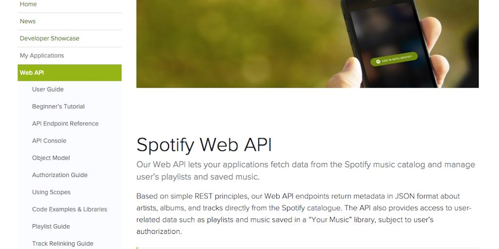 Spotify Web API - Say Hello to Spotify's New Web API