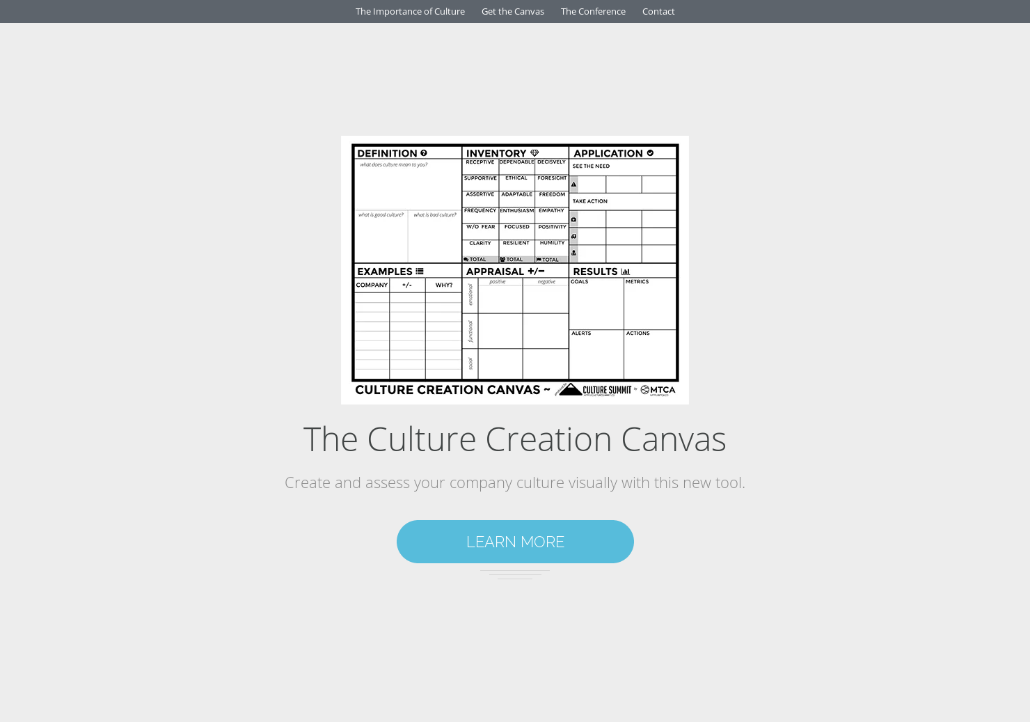Culture Creation Canvas - Create & assess your company