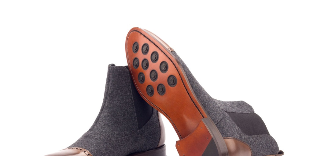 Bishop in Charcoal Flannel & Med-Brown - Goodyear Welted Construction Boot £190 | Product Hunt
