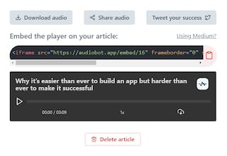 AudioBot - Convert articles to audio easily 🎙️ | Product Hunt