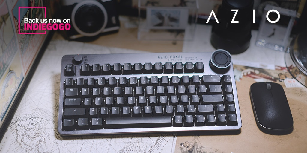 Azio Fokal Keyboard - A wireless mechanical keyboard with a control knob | Product Hunt