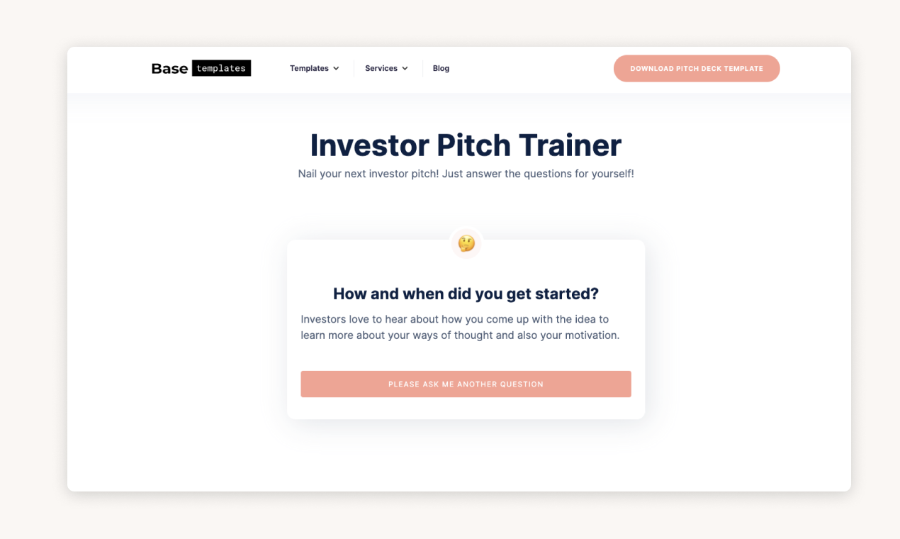Investor Pitch Training Product Hunt Image