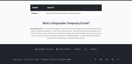 TempMail altmails - Disposable temporary email addresses | Product Hunt