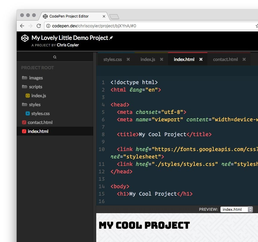 CodePen Projects - A web based IDE for building websites by