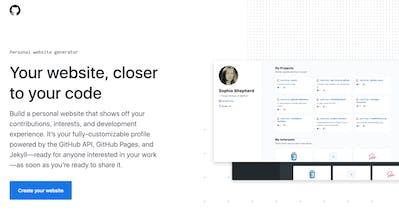 GitHub Personal Website Generator - Generate a personal website