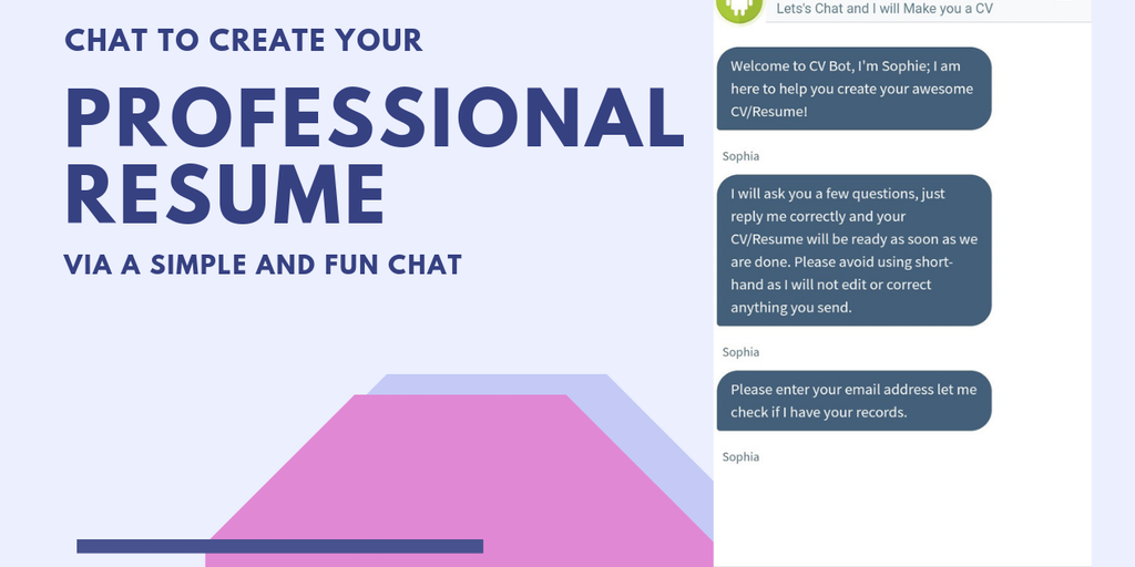 Cv Bot Chat To Create Your Professional Cv Resume