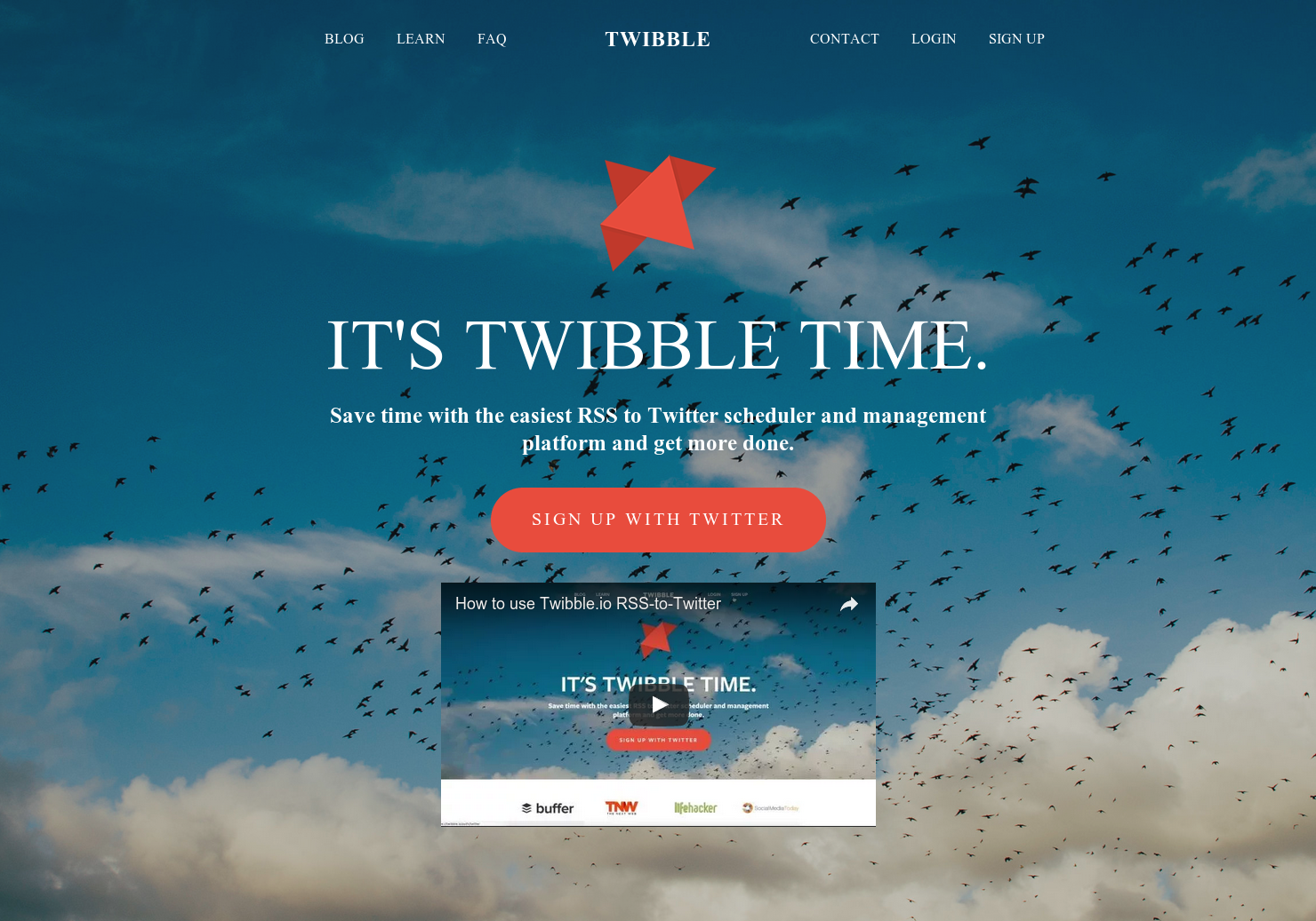 Twibble io - A Better Blog-to-Twitter Automation Service