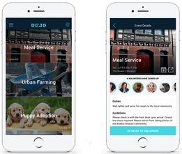 DEED - On-demand app that makes volunteering easy, social and fun