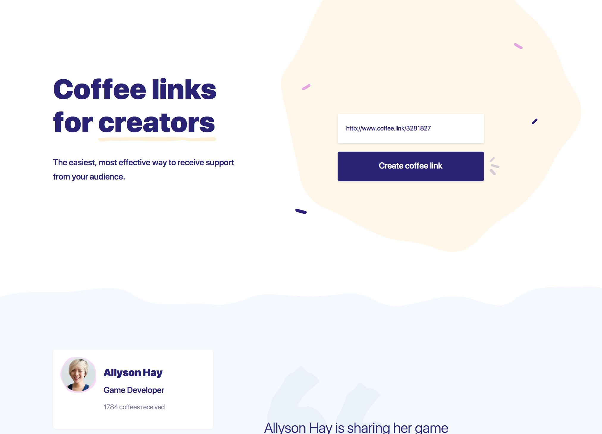 Coffeelinks by Buy Me A Coffee