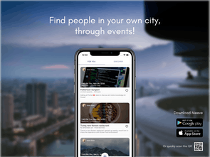 Meeve - A hyperlocal app to connect nearby people via events
