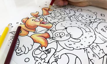 Monkeys - Free printable Coloring pages for kids | 221x369