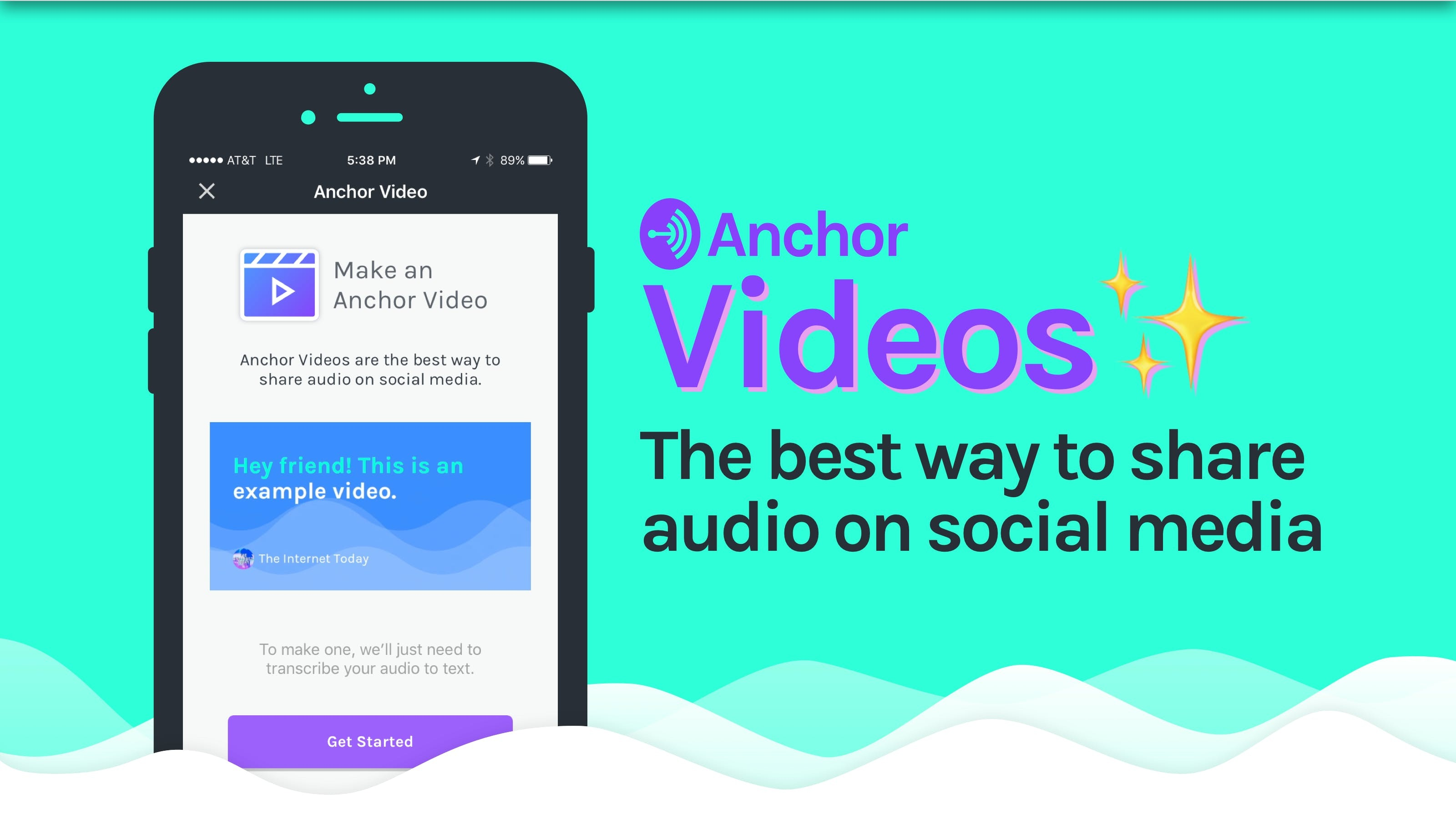 Anchor Videos - Magically transform audio to video and share it anywhere