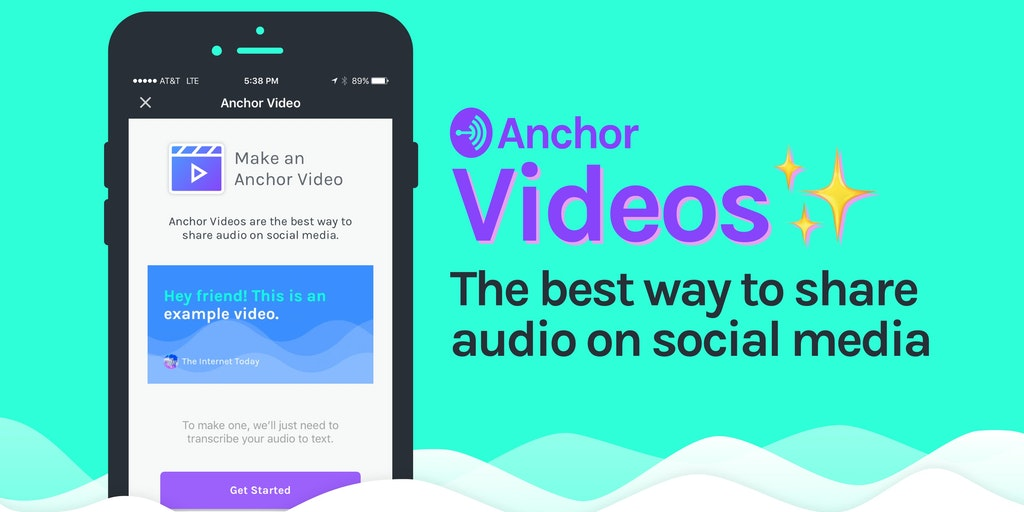 Anchor Videos - Magically transform audio to video and share it anywhere | Product Hunt