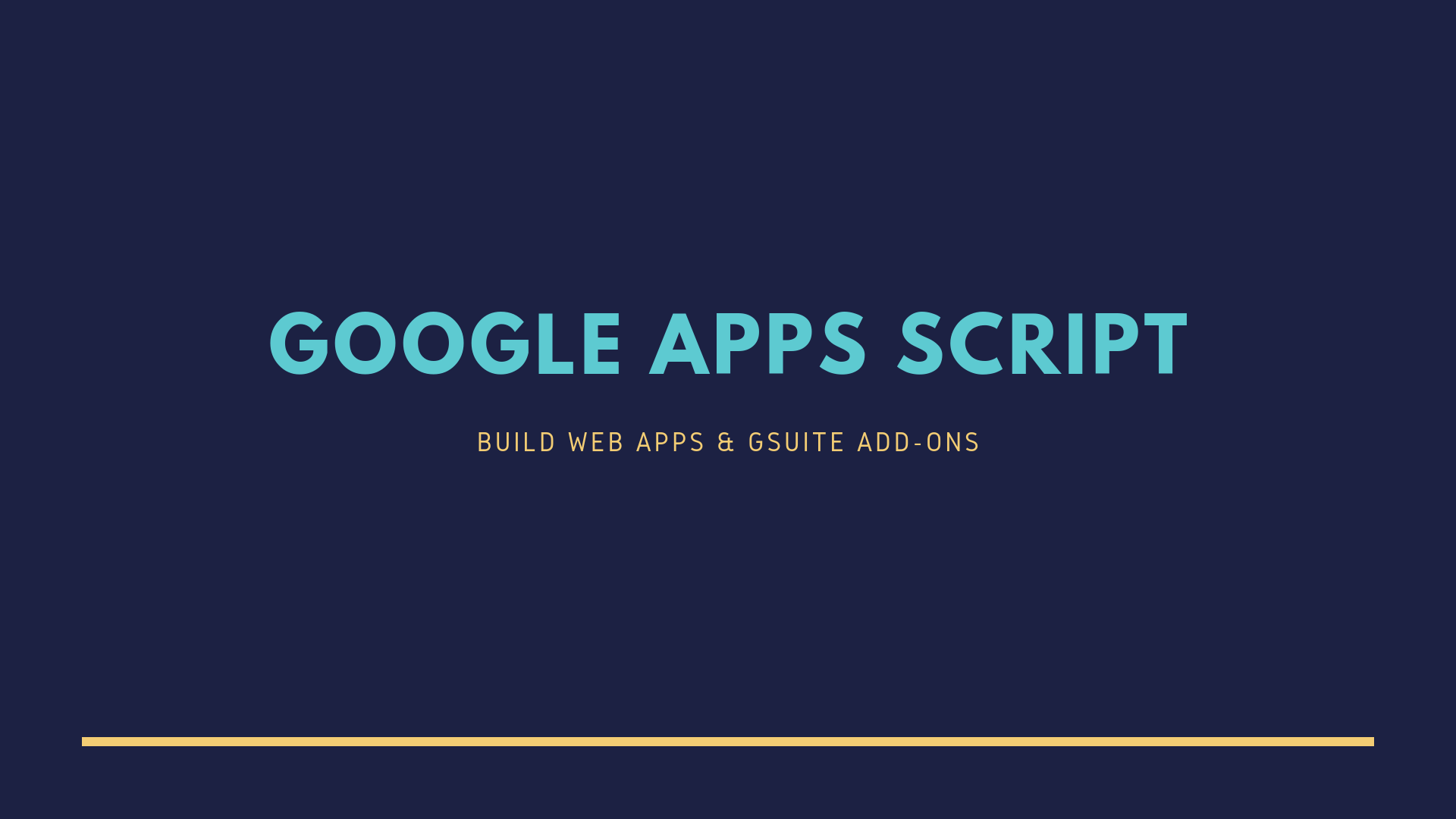 Apps Script Starter - Write GSuite add-ons and Google web apps locally in VS Code