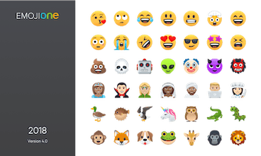 EmojiOne 4 0 - Complete redesign of 2,827 emoji for 2018