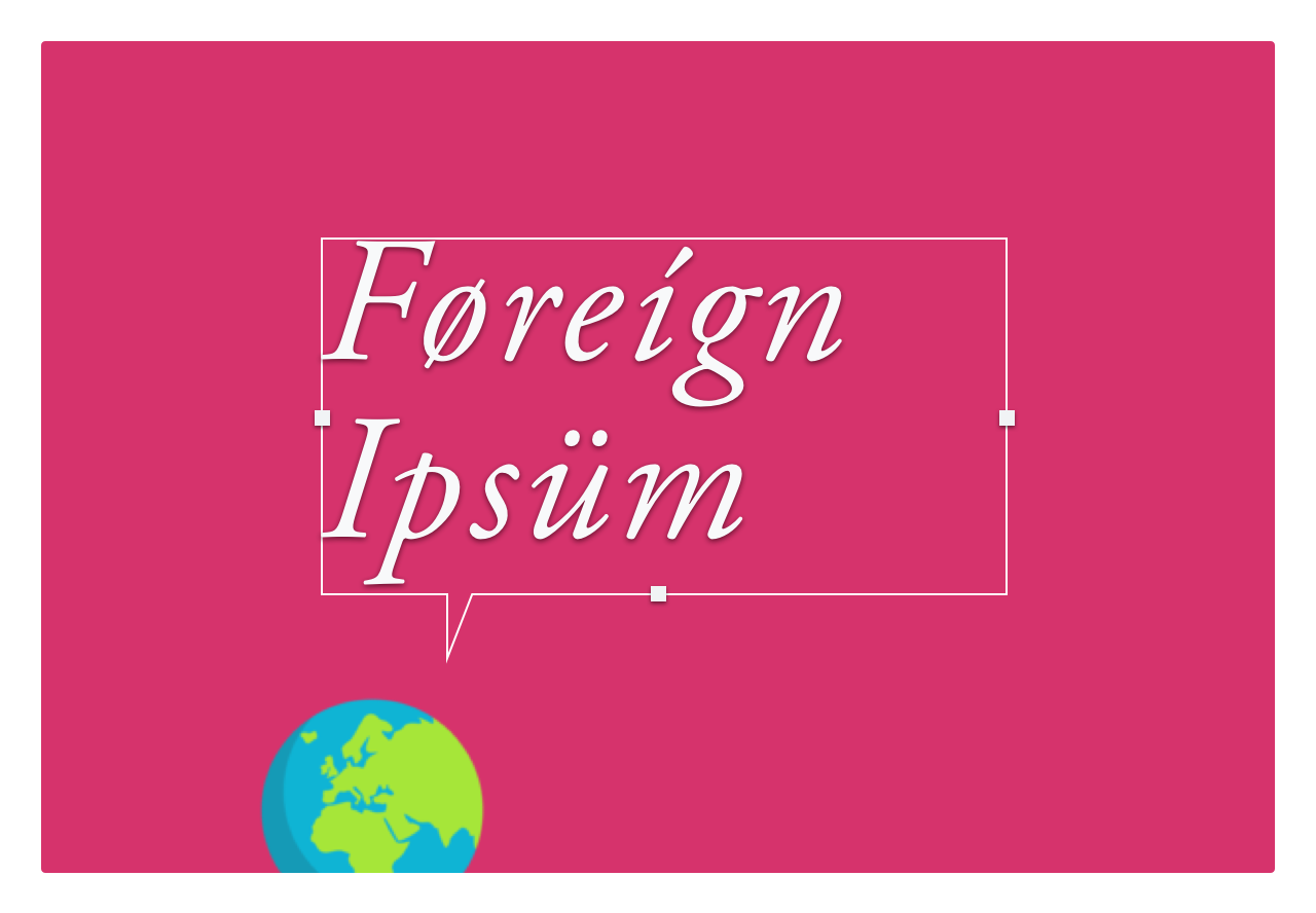 Foreign Ipsum - Generate text for your mockups in multiple