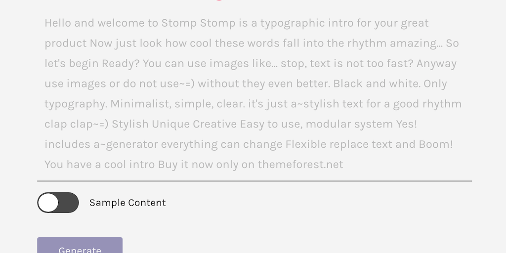 Stomp 4 0 - Turn 100 words into a cinematic intro | Product Hunt