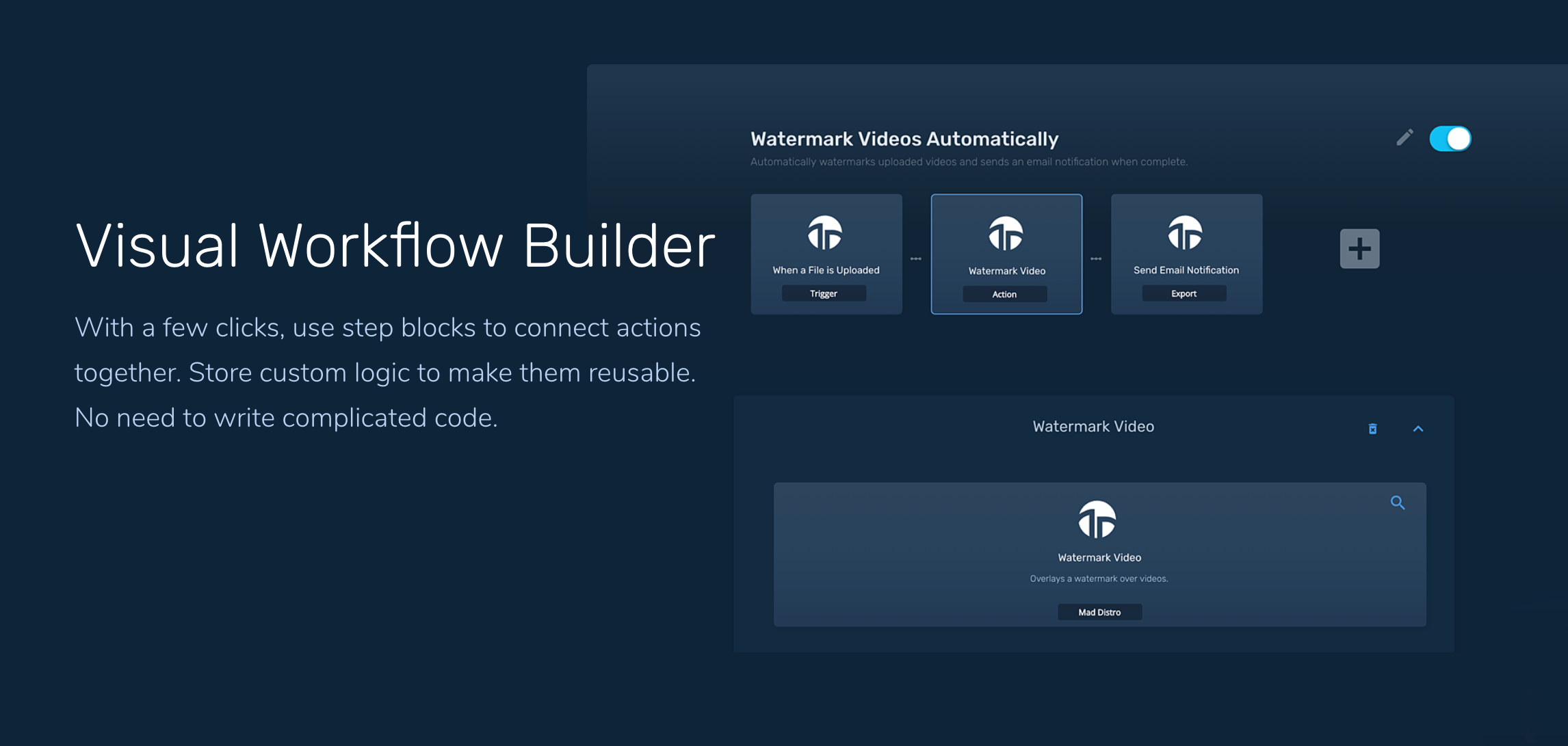 Mad Distro - Automate your video workflows No coding required