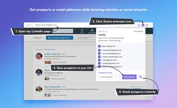 Snovio - Find, verify, send and track business emails easily