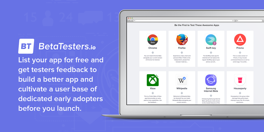 Betatesters io - The platform connecting mobile developers and beta