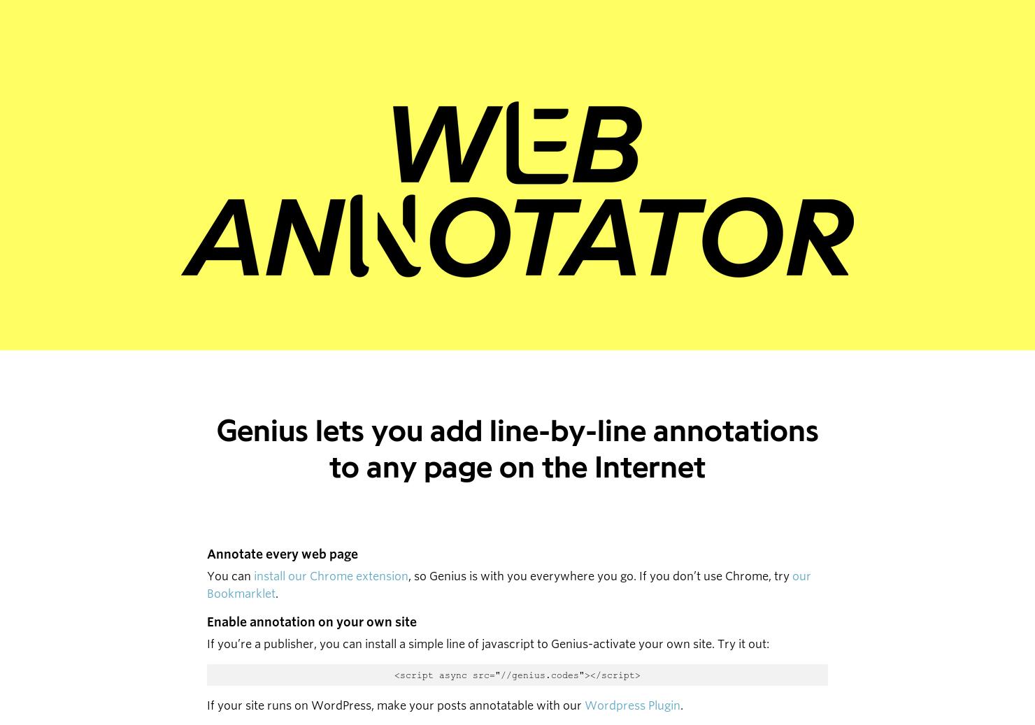 Genius Beta - Annotate the Internet | Product Hunt