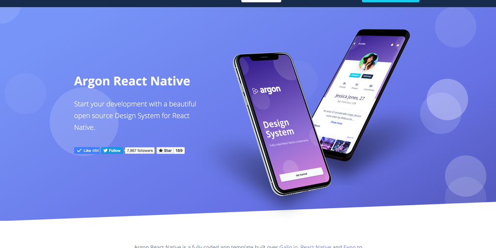 Argon React Native - FREE REACT NATIVE APP TEMPLATE | Product Hunt