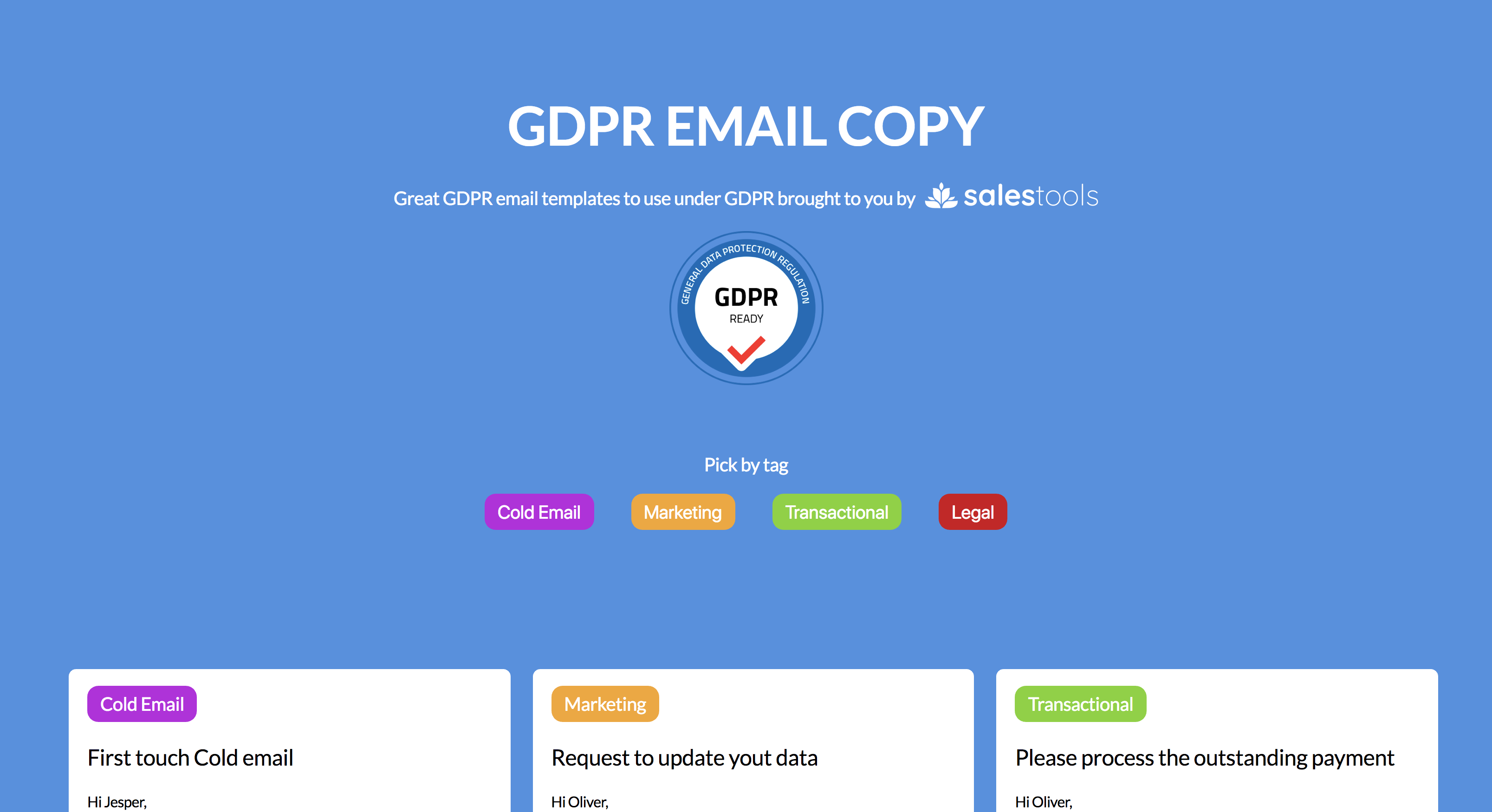 Gdpr Email Copy Email Templates To Use Under Gdpr Product Hunt