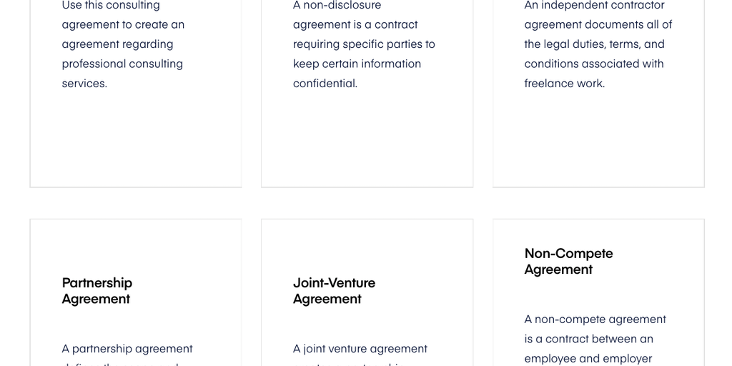 Lawtrades Contract Library Curated Attorney Drafted Startup