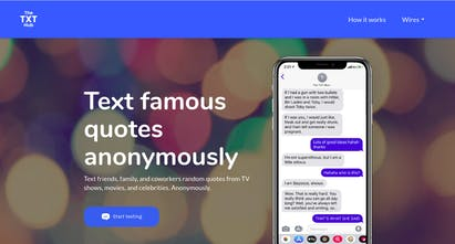 TheTXTHub - Text famous quotes from TV shows, celebrities & more