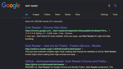 Dark Reader - Dark theme for every website, care for your
