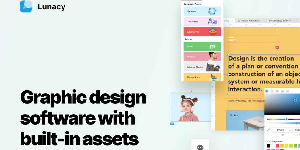 Lunacy Designer - Free all-in-one vector graphic design editor | Product Hunt