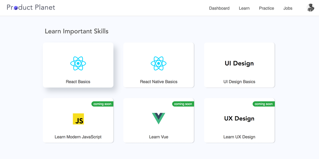 Product Planet - Up-skilling platform for developers and designers   Product Hunt