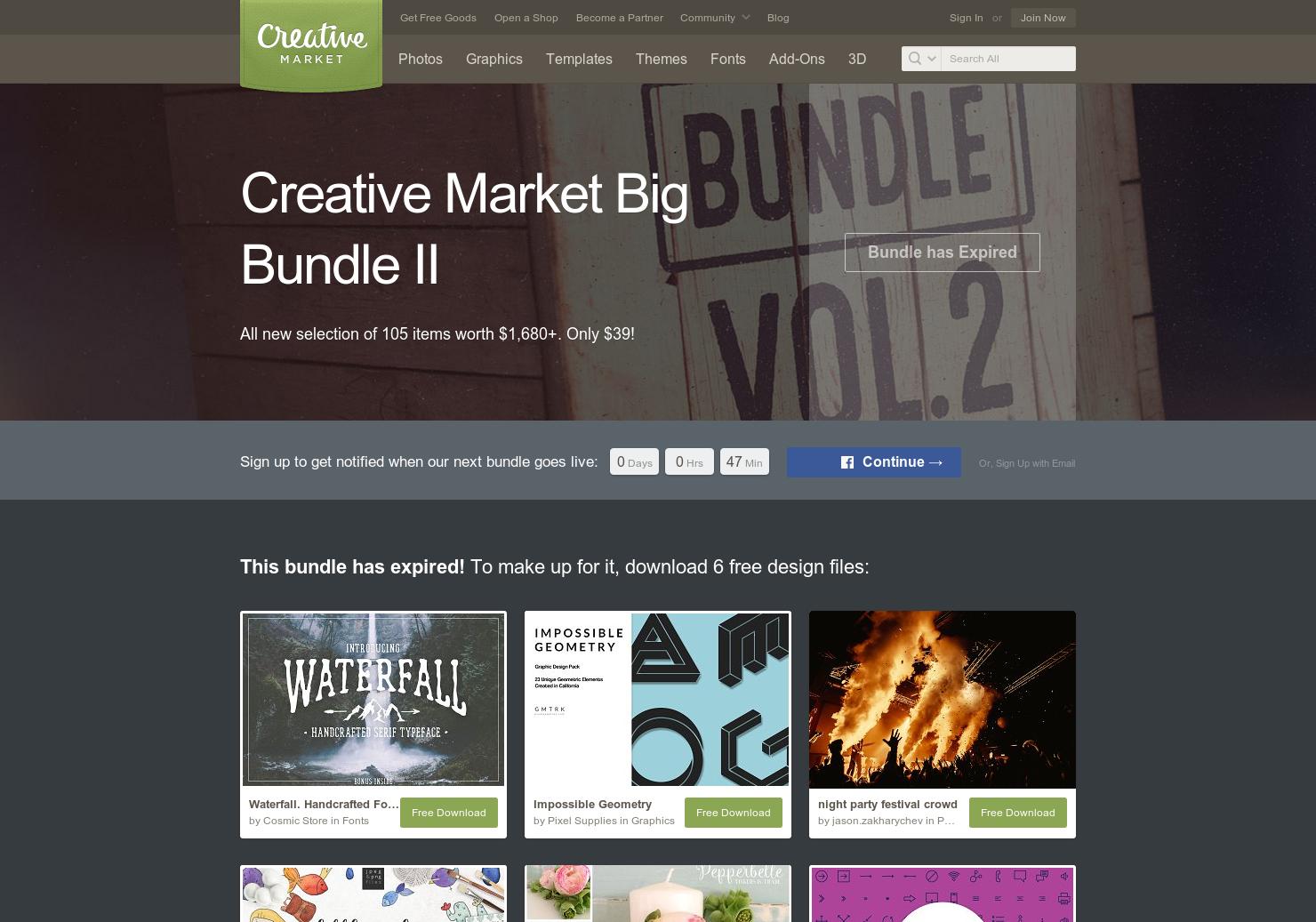 Creative Market Bundle - 100+ high-quality design resources