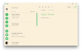 Tusk - A refined open-source desktop app for Evernote