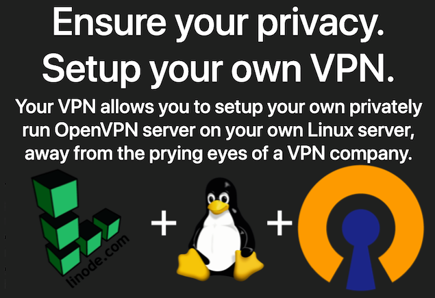Your VPN - Setup a VPN on a private Linux server in minutes, for free