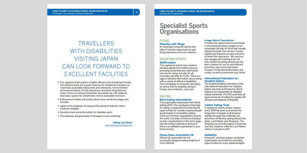 Accessible Travel Online Resources ebook - Experience