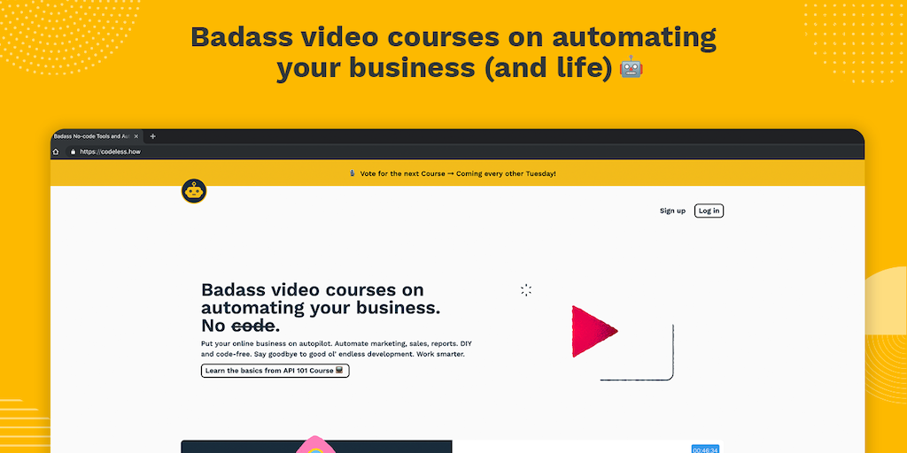 Codeless.how - A learning platform on automating online business 💸 | Product Hunt