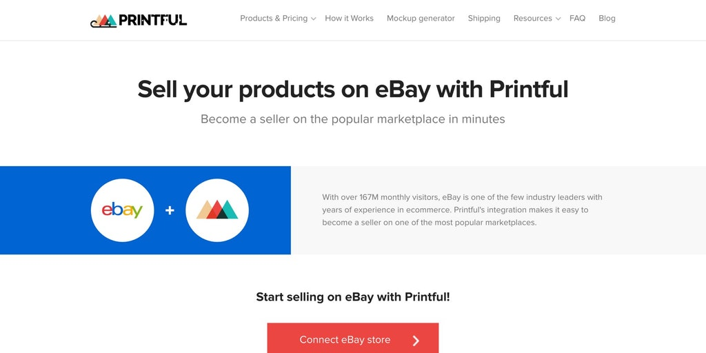 Printful Integration with eBay - Sell products on one of the